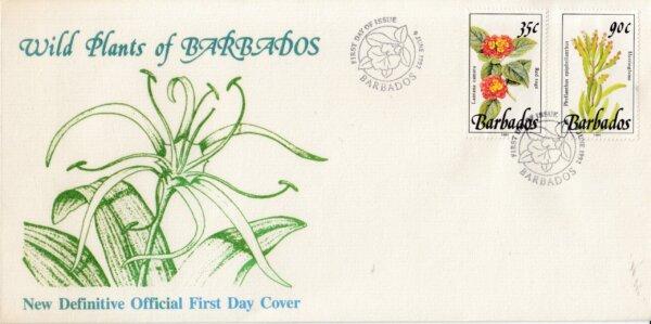 Barbados 1992 Wild Plants of Barbados FDC