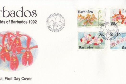 Barbados 1992 The Orchids of Barbados FDC