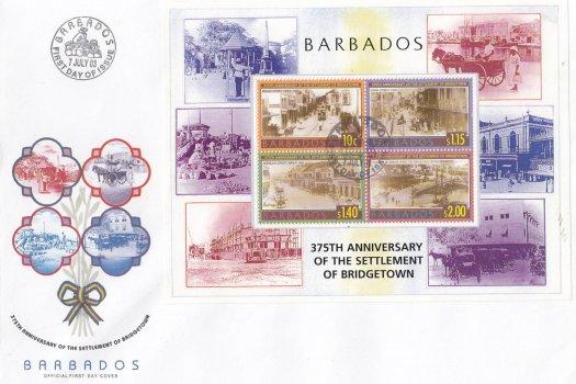 Barbados 2003 375th Anniversary of the Settlement of Bridgetown Souvenir Sheet FDC