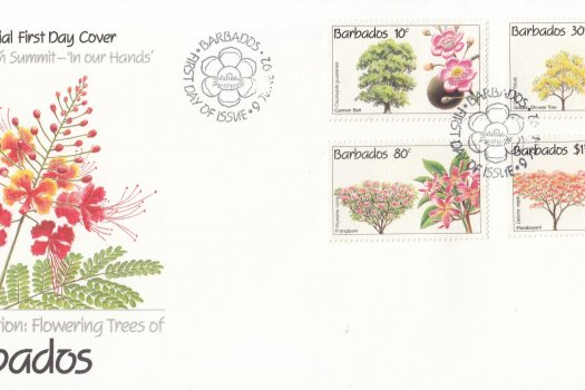Barbados 1992 Conservation Flowering Trees FDC