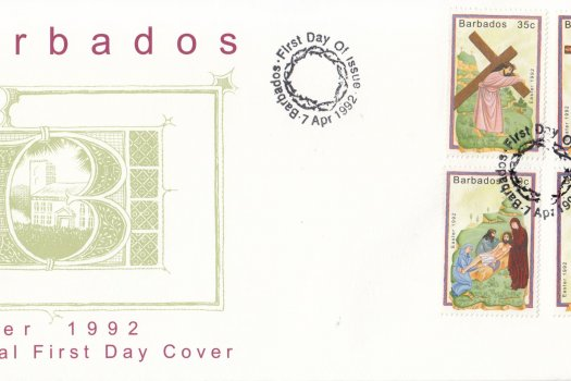 Barbados 1992 Easter FDC
