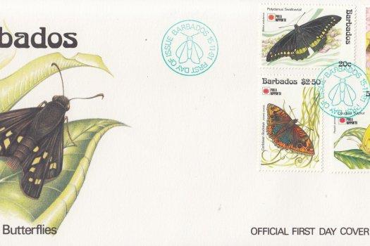 Barbados 1991 Barbados Butterflies FDC