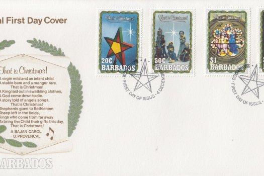 Barbados 1990 Christmas FDC