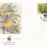 Barbados 1991 Yellow Warbler WWF Official FDC 4 of 4
