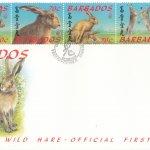 Barbados 1999 'Beijing 99' Wild Hare FDC