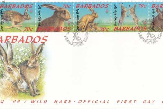 Barbados 1999 'Beijing 99' Wild Hare FDC