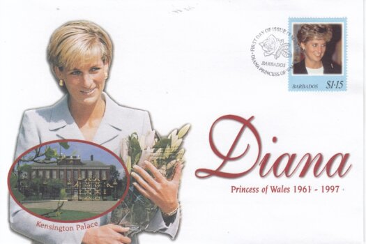 Barbados 1998 FDC Princess Diana on commemorative cover (2 of 4)
