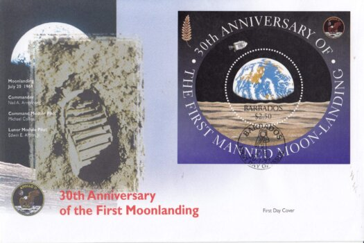 Barbados 1999 30th Anniversary of the First Manned Moon Landing (Private producer) FDC
