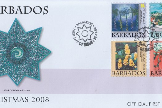 Barbados 2008 Christmas FDC