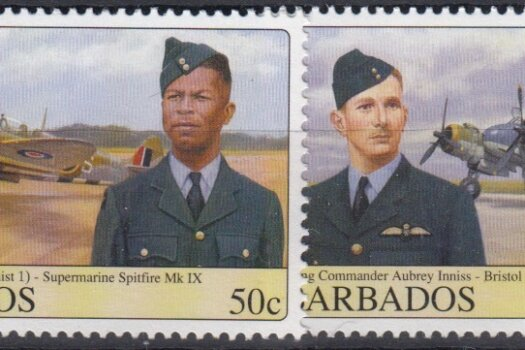 Barbados SG1327-30 | Barbados WWII Airmen and Aircraft
