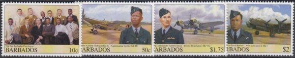 Barbados SG1327-30 | Barbados WWII Airmen and Aircraft