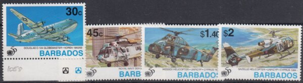 Barbados SG1058-61 | 50th Anniversary of United Nations