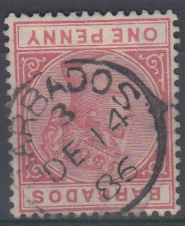 Barbados SG92 with St Philip M2 Parish Cancel DE 14 86