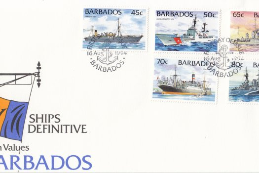 Barbados 1994 Ships Definitives - Medium Values