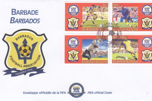 Barbados 2004 Fifa 100 Years Barbados Football Association FDC