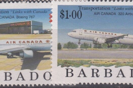 Barbados SG1089-96 | CAPEX 96 International Stamp Exhibition Toronto Aircraft