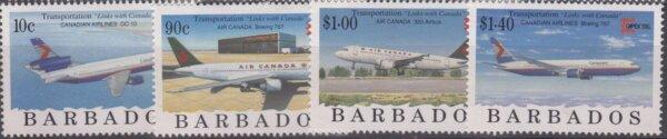 Barbados SG1089-96 | CAPEX 96 International Stamp Exhibition Toronto Aircraft