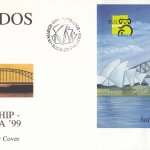 Barbados Sailing Ship Australia 99 Mini Sheet FDC