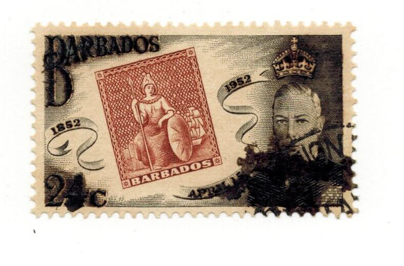 Barbados oddity from the reign of King George VI