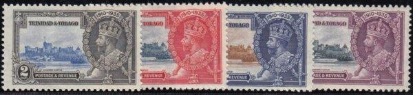 Trinidad & Tobago 1935 Silver Jubilee stamps