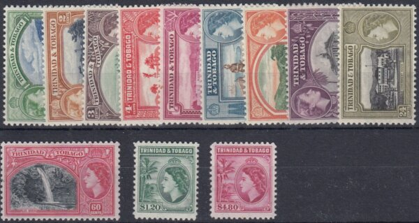 Trinidad & Tobago QEII 1953 Commemorative Set