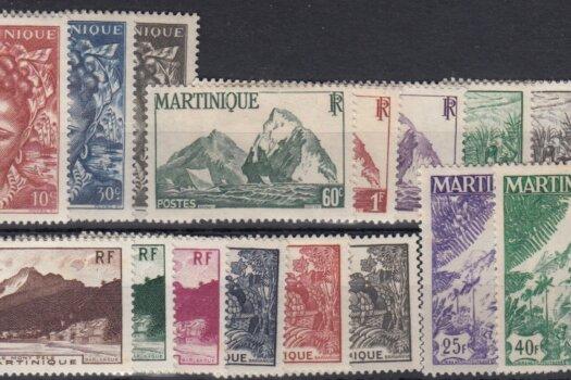 Martinique SG231-247 1947 Commemorative Set