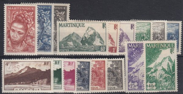 Martinique SG231-247 1947 Commemorative Set