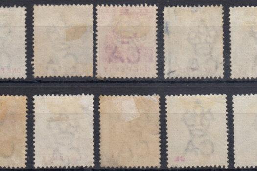 Barbados SG105-114 (backs)