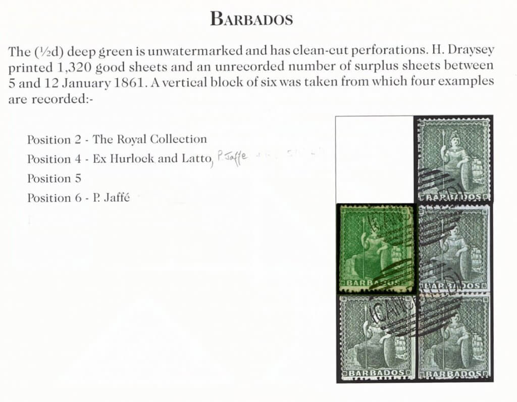 Barbados 1861 (1-2d) Deep Green SG17 H-S CANCELLED in Oval by Perkins & Bacon Page 3