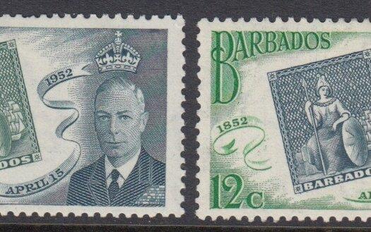 Barbados SG285 -288 | Barbados Stamp Centenary 1952