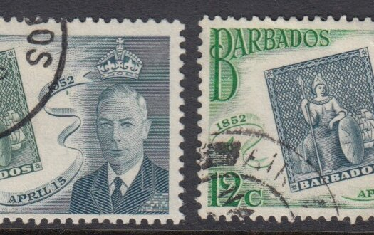 Barbados SG285 -288 | Barbados Stamp Centenary 1952 (Used)