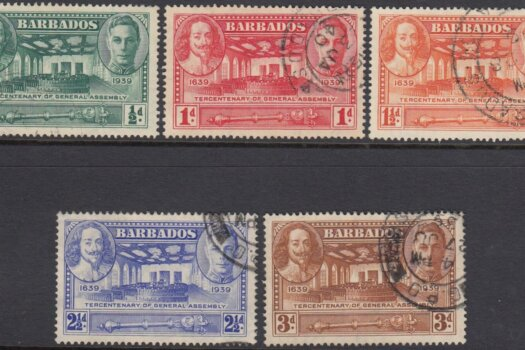 Barbados SG257-261 | Tercentenary of General Assembly (Used)