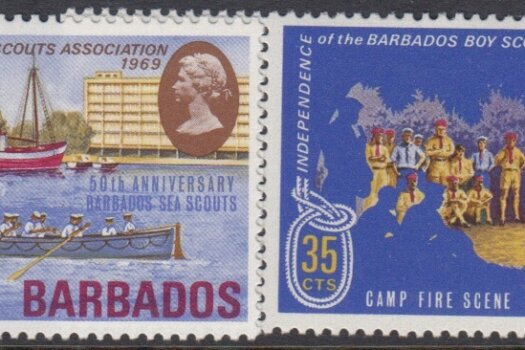 Barbados SG393-396 | Independence of the Barbados Boy Scouts Association