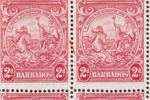 Barbados SG250da pair with Extra Frame Line flaw