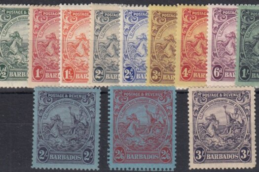 Barbados SG229-239 | Postage & Revenue set 1925-35 (mint)