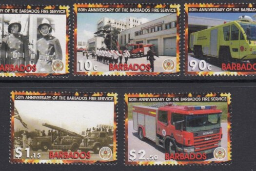 Barbados SG1281-1285 | 50th Anniversary of the Barbados Fire Service