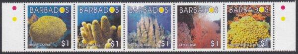 Barbados SG1255-1259 | Barbados Coral
