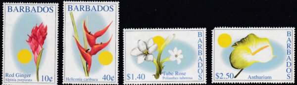 Barbados SG1211-1214 | Barbados Flowers