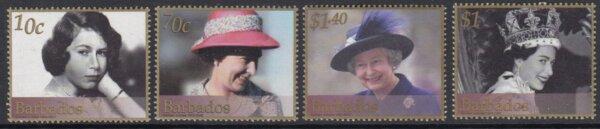 Barbados SG1202-1205 | Queens Golden Jubilee 2002