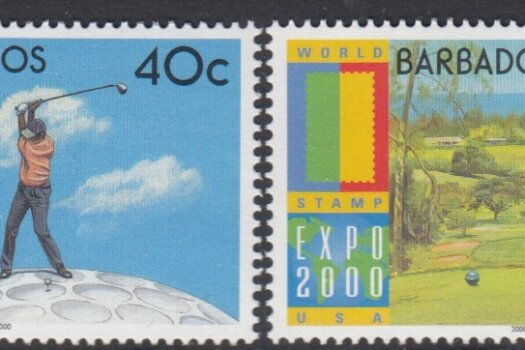 Barbados SG1171-1174 | Expo 2000 World Stamp Exhibition Anaheim USA Golf
