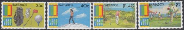 Barbados SG1171-1174 | Expo 2000 World Stamp Exhibition Anaheim USA Golf