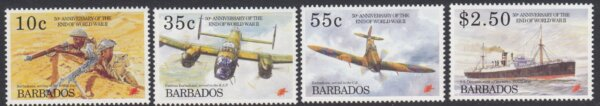 Barbados SG1048-1051 | 50th Anniversary of the end of Second World War