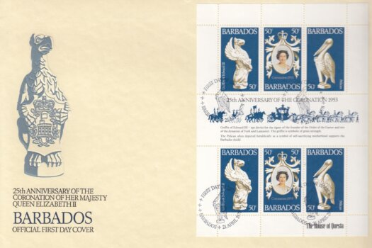 Barbados 1977 | 25th Anniversary of The Coronation of QEII FDC