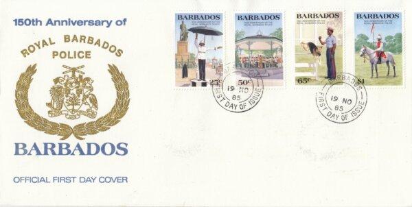 Barbados 1985 | 150th Anniversary of Royal Barbados Police FDC