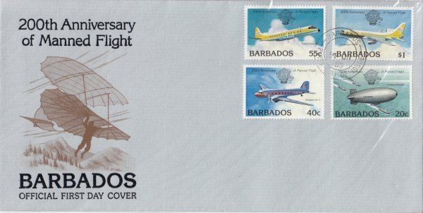 Barbados 1983   200th Anniversary of Manned Flight FDC