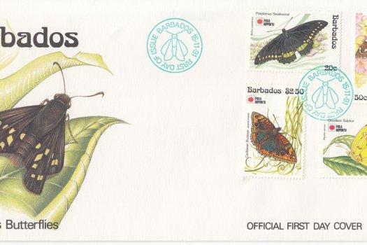 Barbados 1991 | Barbados Butterflies FDC