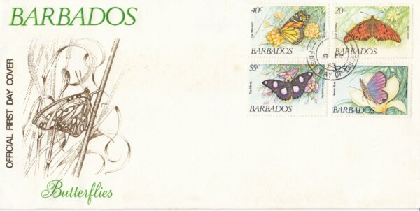 Barbados 1983 | Butterflies FDC