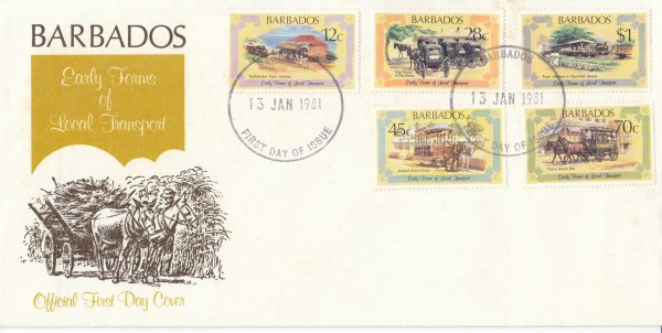 Barbados 1981   Early Forms of Local Transport FDC