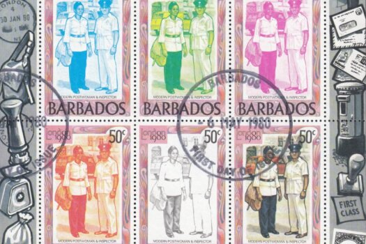 Barbados SGMS659 | London 1980 International Stamp Exhibition minisheets (Used) [2]
