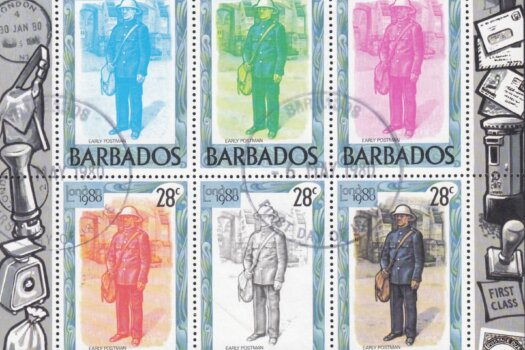 Barbados SGMS659 | London 1980 International Stamp Exhibition minisheets (Used)